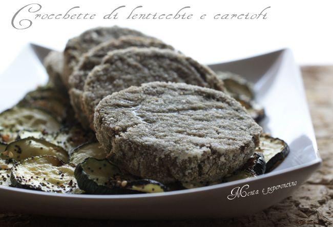 Crocchette di lenticchie e carciofi