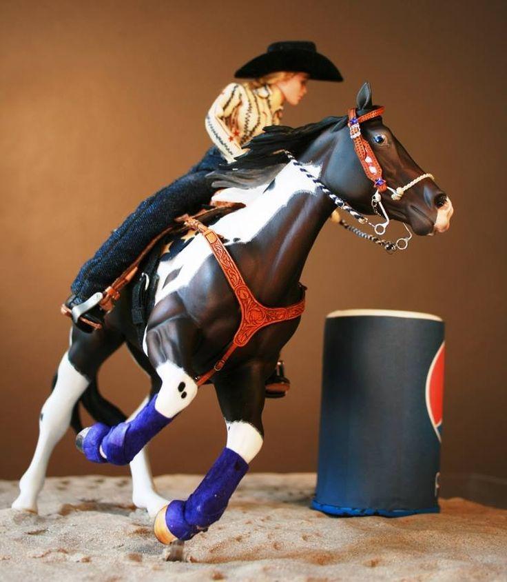 Model Horse-Barrel Racing