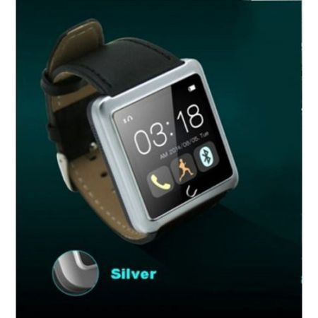 U10 Touch screen Bluetooth Smart Watch Watch phone For iphone android phones - Silver