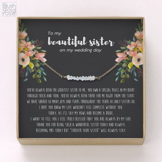 12 Best Wedding Gifts For Sister Getting Married Emmaline Bride In 2020 Sister Wedding Gift Married Gift Best Wedding Gifts