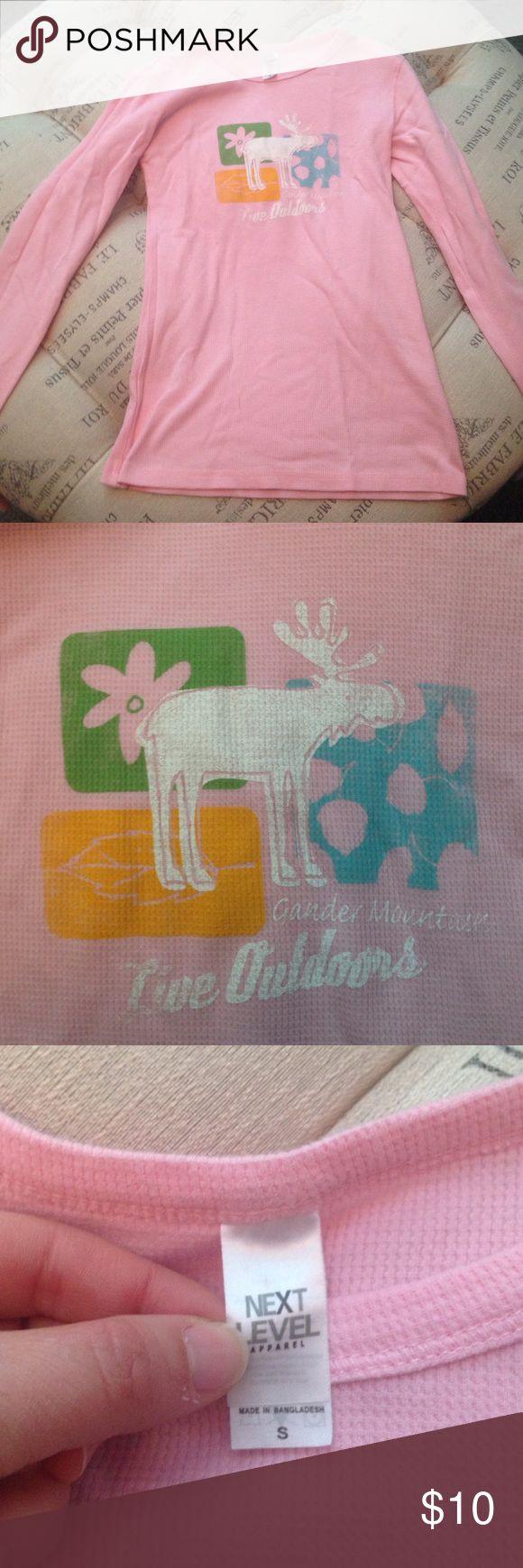 Gander Mountain pink moose long sleeve shirt sz S Like new Gander Mountain pink moose long sleeve shirt size S Gander Mountain Tops Tees - Long Sleeve