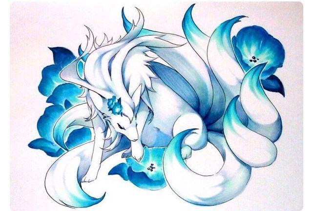 Shiny ninetails pok mon pinterest a well beautiful - The most adorable pokemon ...