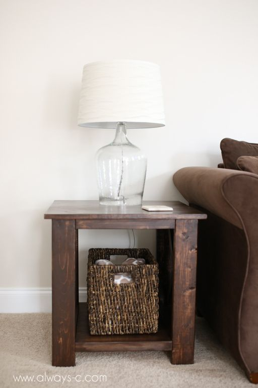 DIY Rustic End Tables - The Pink Lemonade Blog