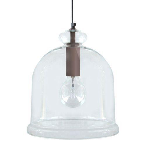 Tosel - Tosel Suspension en verre et acier forme cloche diamètre 28 cm Manila 13402_ - 13402_