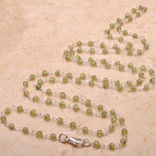 Green Peridot 36 ins long Necklace 36ins by KimberlysTreasure