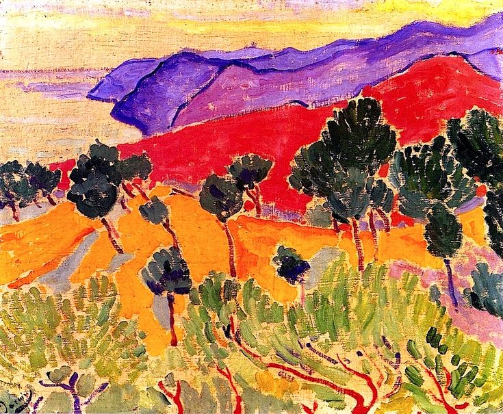 Andre Derain - Landscape by the Sea- The Côte d'Azur near Agay.