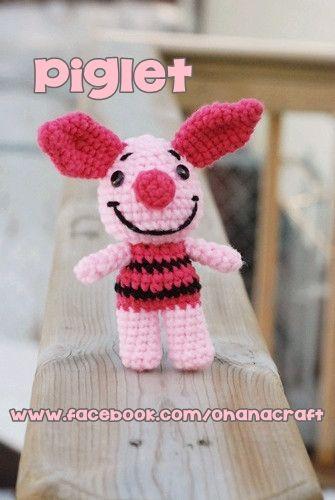 FREE Mini Piglet crochet pattern... SO CUTE!!!