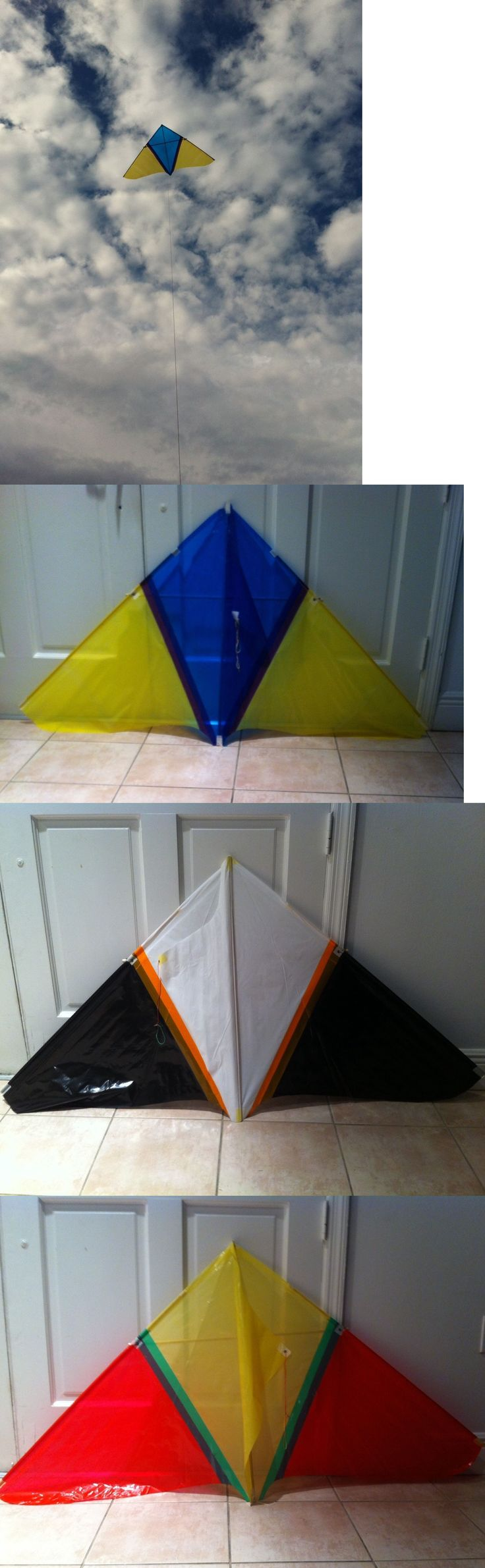 Kites Lines 114264: ¡9 Kites!, 4 Prism Shape, 1.5M Big And 5 Basic Kites All Comes With Line And Bag -> BUY IT NOW ONLY: $99.99 on eBay!