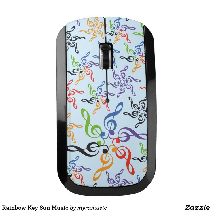 Rainbow Key Sun Music Wireless Mouse. Música, music. Producto disponible en tienda Zazzle. Tecnología. Product available in Zazzle store. Technology. Regalos, Gifts. #optical #wireless #mouse