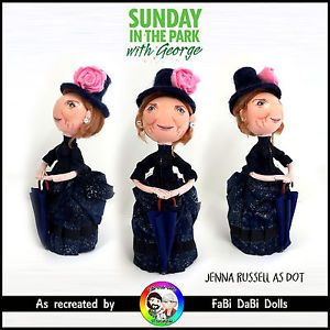 jenna russell dot sunday in the park with george sondheim doll by fabi dabi dolls available now on our ebay store