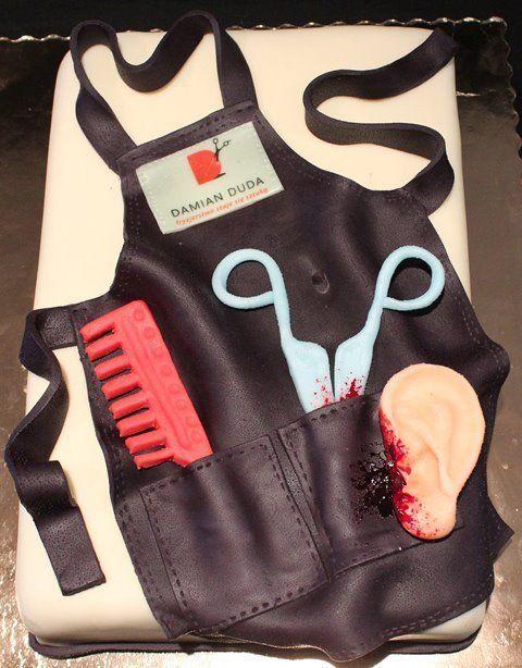 hairdresser apron cake - CakesDecor
