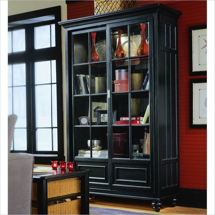 American Drew Camden Black Bookcase China Cabinet $1,630.00