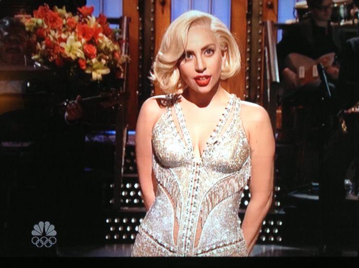 Lady Gaga still SNL guest host skit performance
