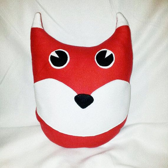Red fox pillow/softie  DonutDuo on Etsy, €15.00