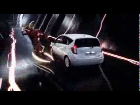 The Nissan Note: featuring safety shield technologies: Blind Spot Warning, Lane Departure Warning, Moving Object Detection.