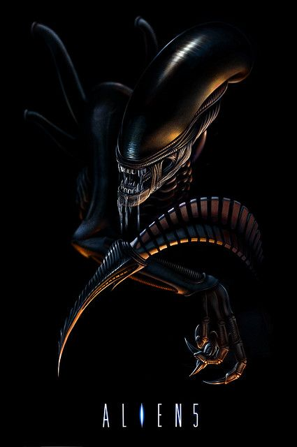 Aliens - movie poster - microraptor