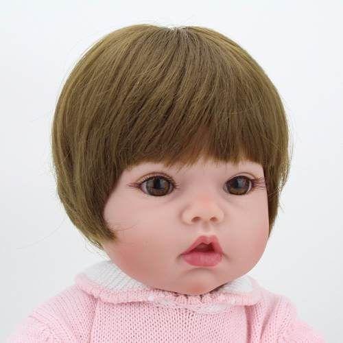 Bebê Reborn Realista Beth 50 Cm - Pronta Entrega  bebê, bebe reborn, bebê reborn, reborn, boneca,  boneca reborn, bonecas reais, bebês reais, bonecas de verdade, bebês quase reais, boneca de verdade, bebê real, adora doll, brinquedos, reborn barata, reborn promoção, reborn mais vendido, mais vendido,