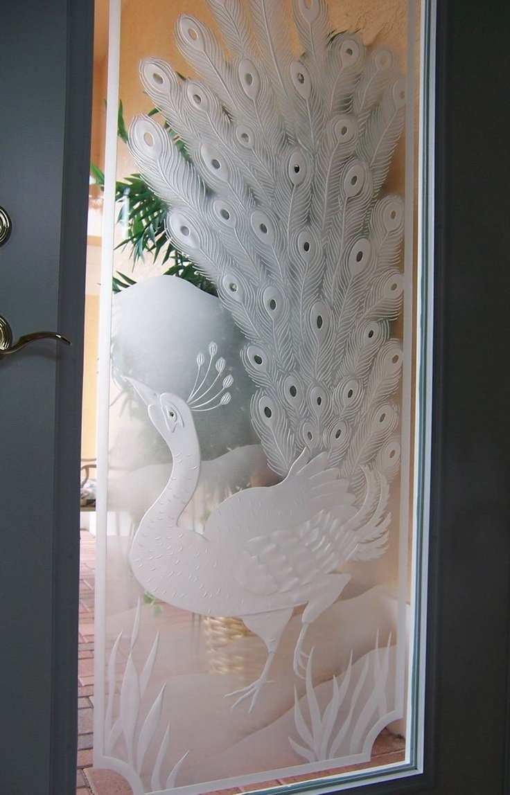Frosted Etched Glass Peacock Door Peacock Love