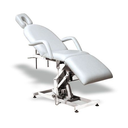 #Salonbed #Massagetable #Tattoo Table #HBA #Salon #Equipment #NewZealand  Paul Beauty Bed (KB02)  $1,428.00 (GST Excl.)   Production/delivery time 10-12 weeks   •177(205)D×80W×90(100)Hcm  •Steel base with powder coated finish;  •Upholstered with high density foam and top quality 1.2mm vinyl;  •Height adjustable with a electric motor;  •Head and leg section manually adjustable;  •Removable armrest with pillow insert.