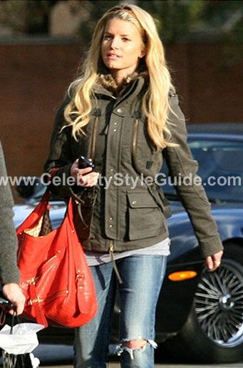 Jessica Simpson - D Squared D2 fur edge pocket jacket