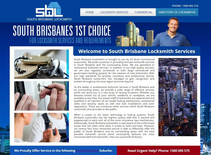 South Brisbane - look no further - you have access to our professional South Brisbane Locksmith Service - Call us on 1300 055 575 or see our website here: http://southbrisbanelocksmith.com.au/