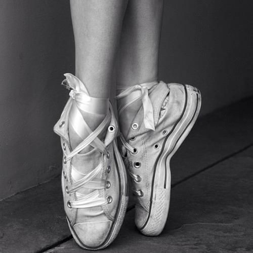 My Converse are never truly broken in, until I can go onto pointe in them :D