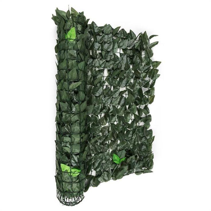 Blumfeldt Fency Dark Leaf Clôture pare-vue Paravent 300×100 cm -mélange vert f…