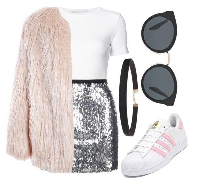 """""""Untitled #012"""" by liaperezmorales on Polyvore featuring Rosetta Getty, Topshop, Sans Souci, adidas, Prada and Humble Chic"""
