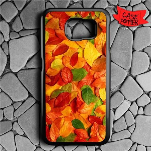 Autumn Leave Samsung Galaxy S7 Black Case