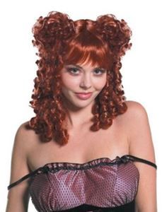 Darling of Darkness Red Curly Wig - 342096 | trendyhalloween.com