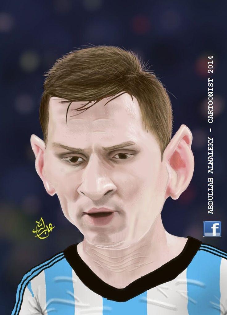 caricature portrait messi   argentina barcelona
