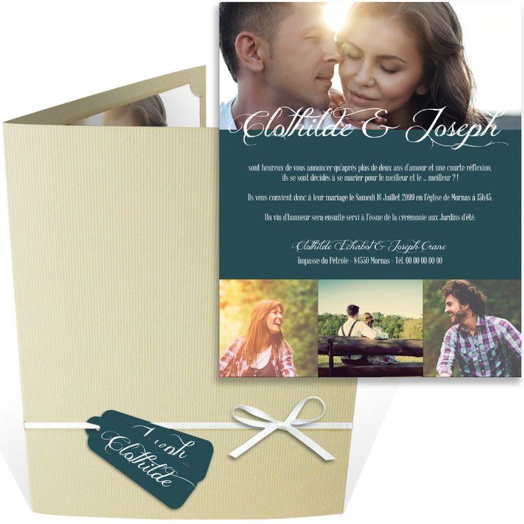 top wedding invitations016%0A Faire part mariage pochette moderne o   vous pourrez ins  rer vos plus belles  photos de couple pour