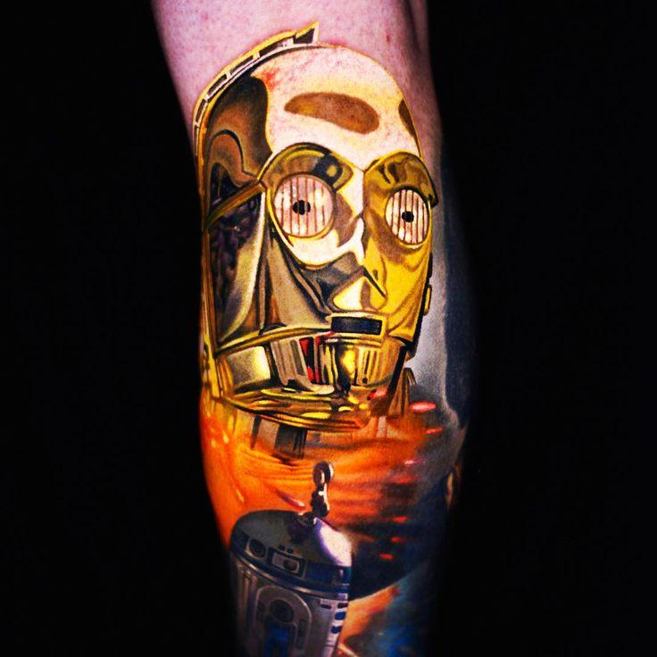 C3po tattoo by Nikko Hurtado