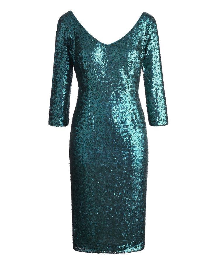The website calls this 'emerald' my monitor shows an almost teal color though and I love it! Christmas gala or New Years Eve this dress would be a showstopper!