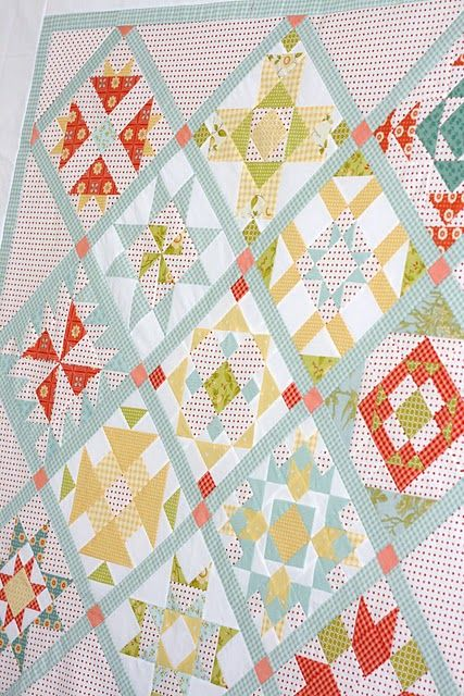 Around the Block with Judy Hopkins- another sampler quilt...