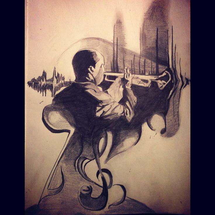 Musical Instrumental #art#pencil