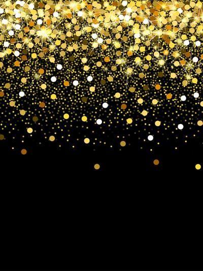 Kate Glitter Gold Black Bokeh Backdrop Baby Photos