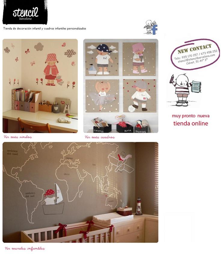 Stencil barcelona tienda de decoraci n infantil y cuadros - Decoracion infantil barcelona ...