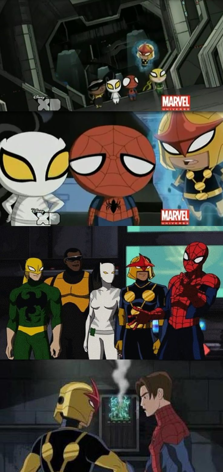Ultimate Spider Man (Luce Cage, Ava Ayala, Danny Rand and Sam Alexander).