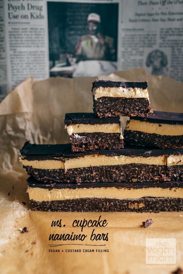 The Naughtiest #Vegan Nanaimo Bars in Town | International Cookbook Giveaway coming up soon this weekend (Two Winners!)