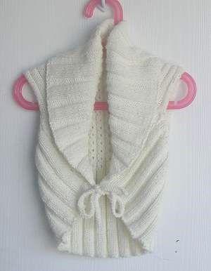 Knitting Pattern Childs Ballet Cardigan : 17 Best images about Knitting ~ baby cardigan (sleeveless) on Pinterest Swe...