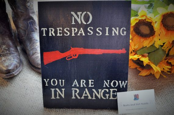 No Trespassing Sign / Rustic Sign / Country by BootsAndDirtRoads