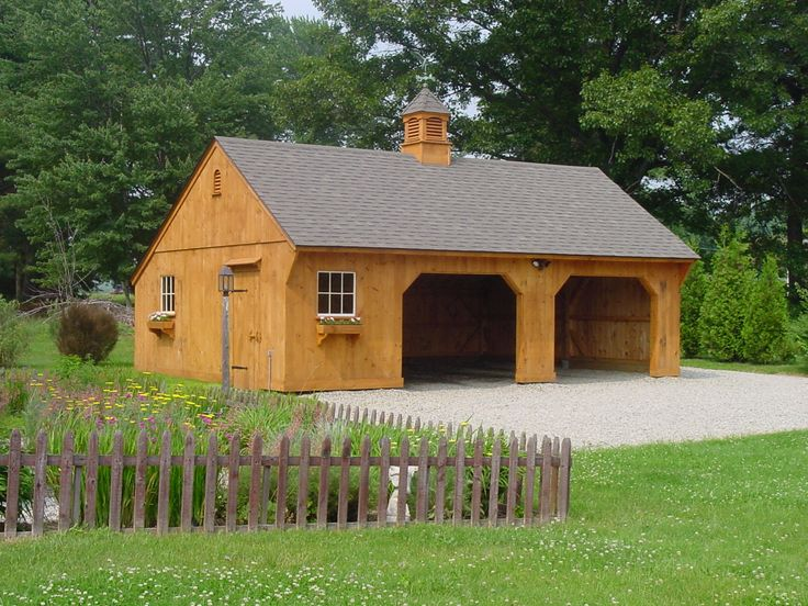 Our 22'x 30' Carriage House with 8/12 roof pitch. www