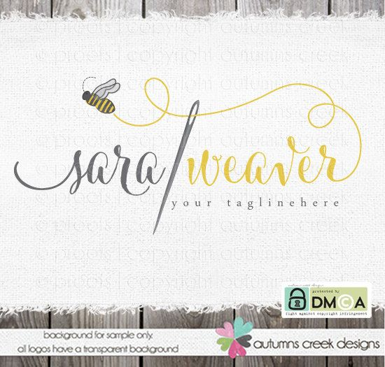 premade logo sewing logo design photography logo by autumnscreek