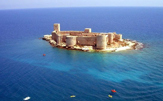 Mersin, Turkey - Castle by the sea, Castle in the Sea....used to swim out to Castle in the Sea as a teenager...good memories!