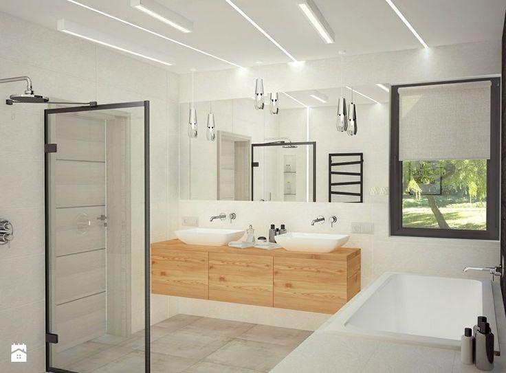 Bliźniak - Średnia łazienka w domu jednorodzinnym z oknem, styl nowoczesny - zdjęcie od Anna Wrona