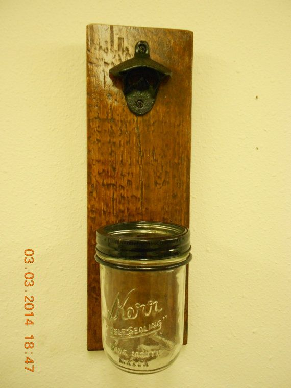 Bottle Opener with Kerr Jar to catch by AfterAGlassCreations, $20.00
