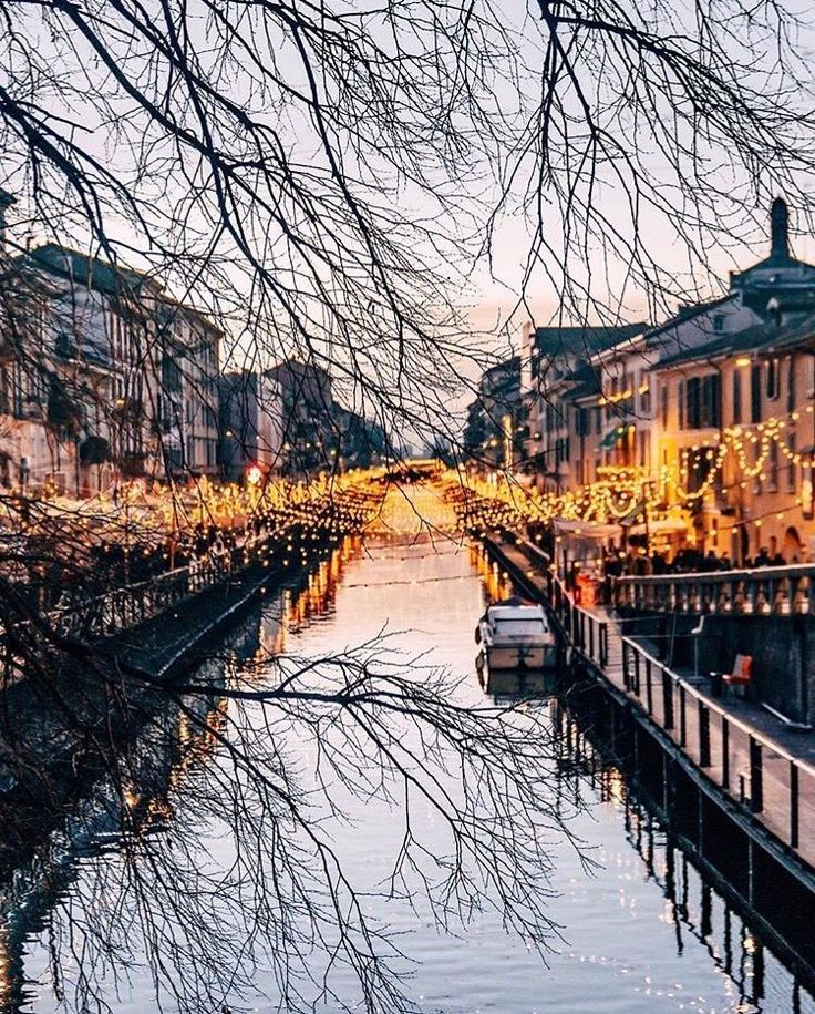The bright lights of Milan, Italy