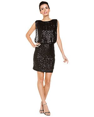 Laundry by Shelli Segal: Blouson Dresses, Segal Black, Dresses 99 90, Black Sequins, Events, Shelli Segal, Laundry, Sequins Blouson