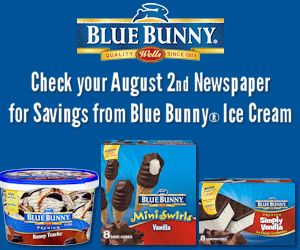 NEW Blue Bunny Ice Cream Coupon Coming This Sunday!